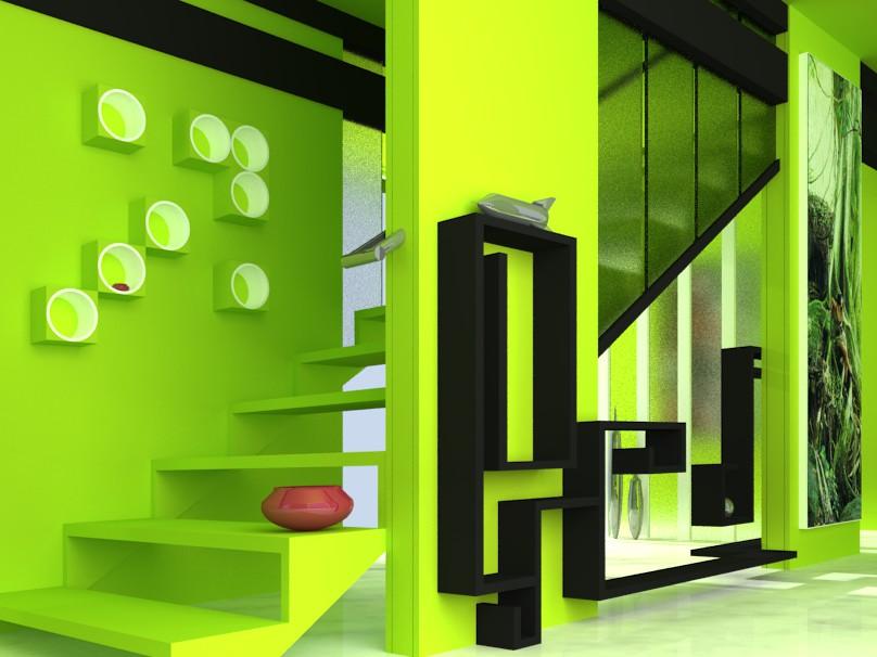 green interior design. Green Interior Design by MobiusTwo  on DeviantArt