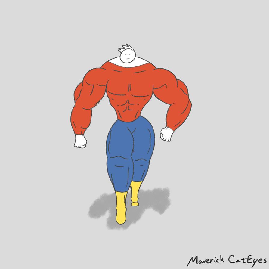 Muscle Doodle by MaverickCatEyes