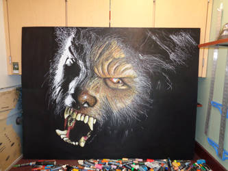 Wolfman in chalk! by Jimbosart8