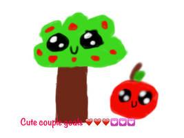 Kawaii apple-tree couple goals by nottaylorswift