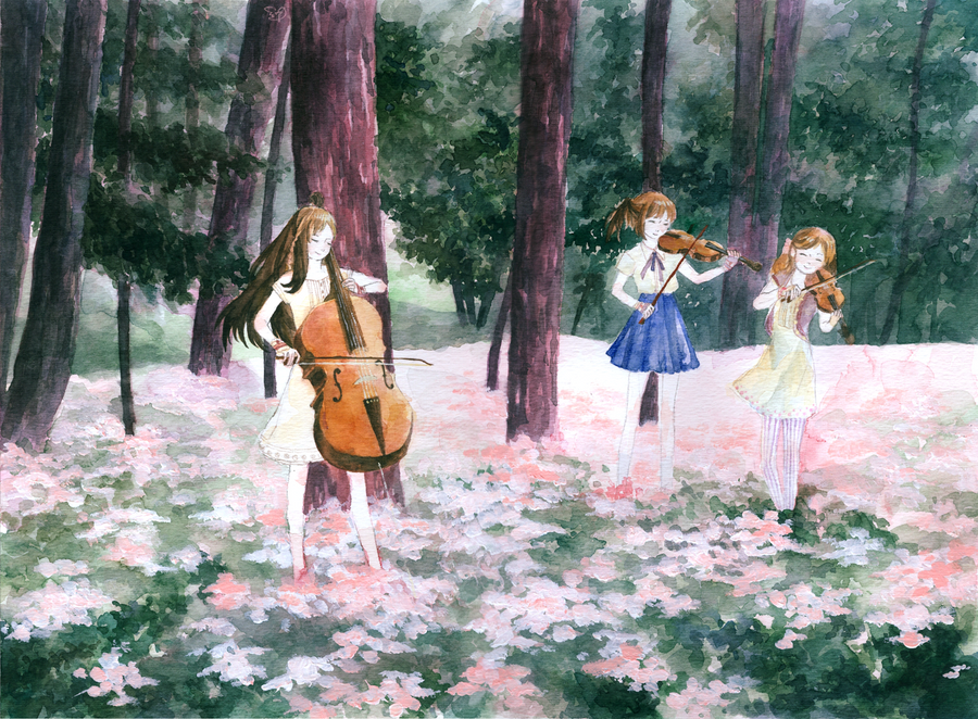 music and forest: Spring by chungsi