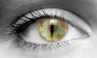 Eye of Sauron in an Eye by DaManOfManyNames