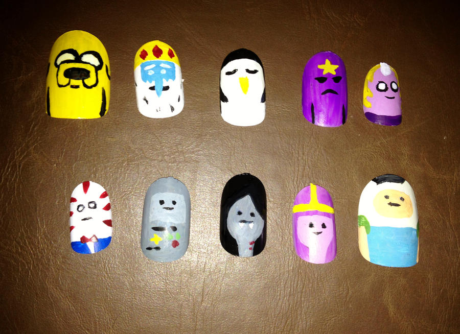 Adventure Time (Nail art) by misspants12