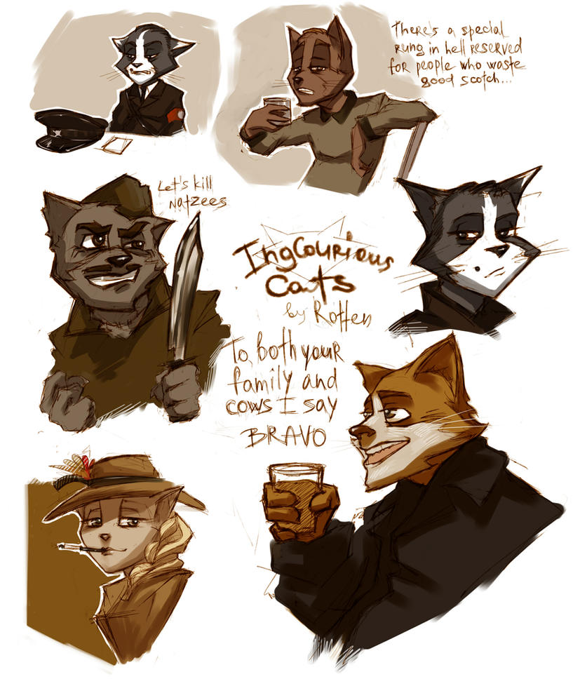 Inglourious Cats by iago-rotten