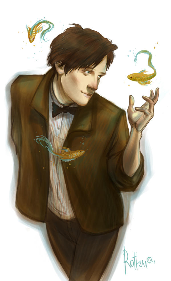 11th Doctor doodle by radu-rotten