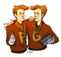HP Weasley Twins by rotten-vermillion
