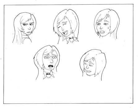 Model Sheet: Bystander Faces