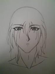 Sad male character portrait