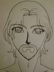bearded male character