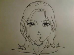 bearded pierced male character