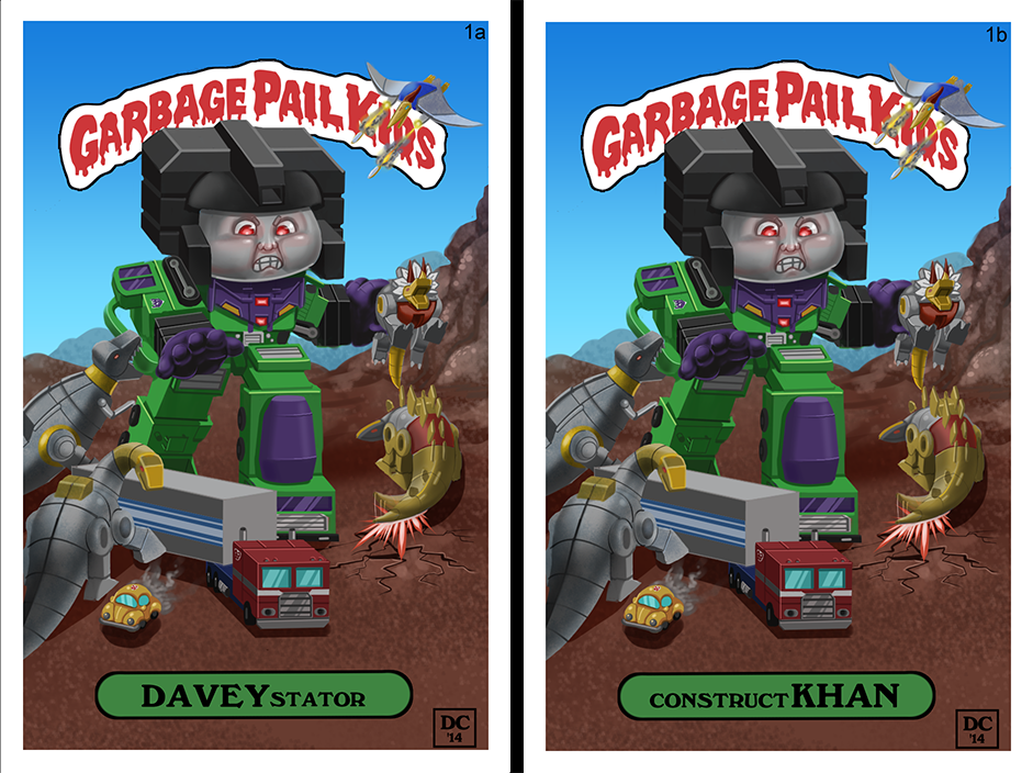Custom Garbage Pail Kid Fan Art by MegaDaniel