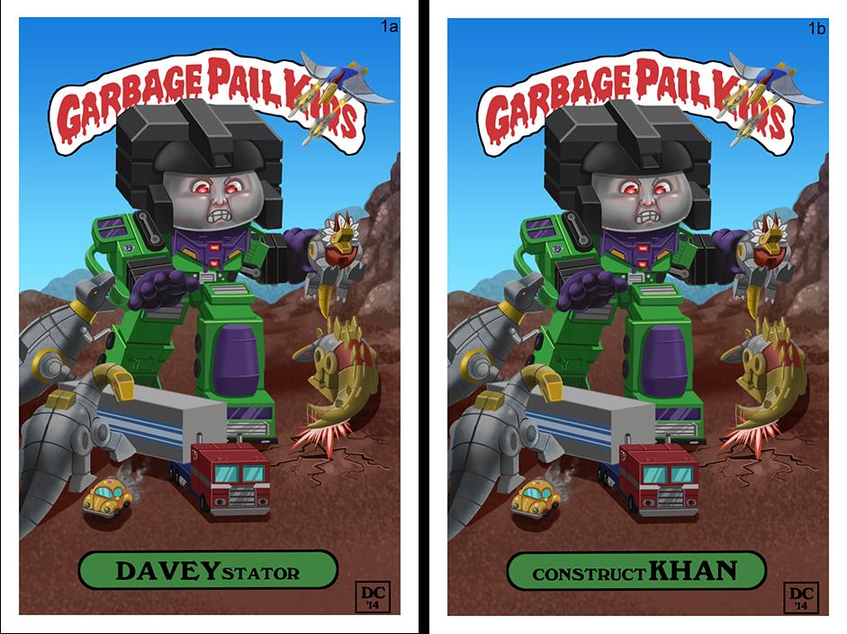 Custom Garbage Pail Kid Fan Art by MegaDaniel