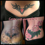 Lower Back Coverup Tattoo