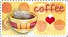 I Luv Coffee Stamp