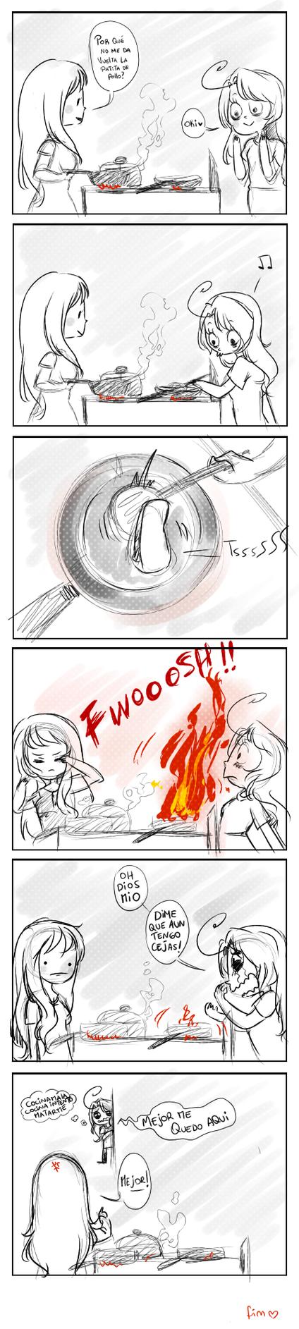 ya no tengo cejas by KuroiiFox