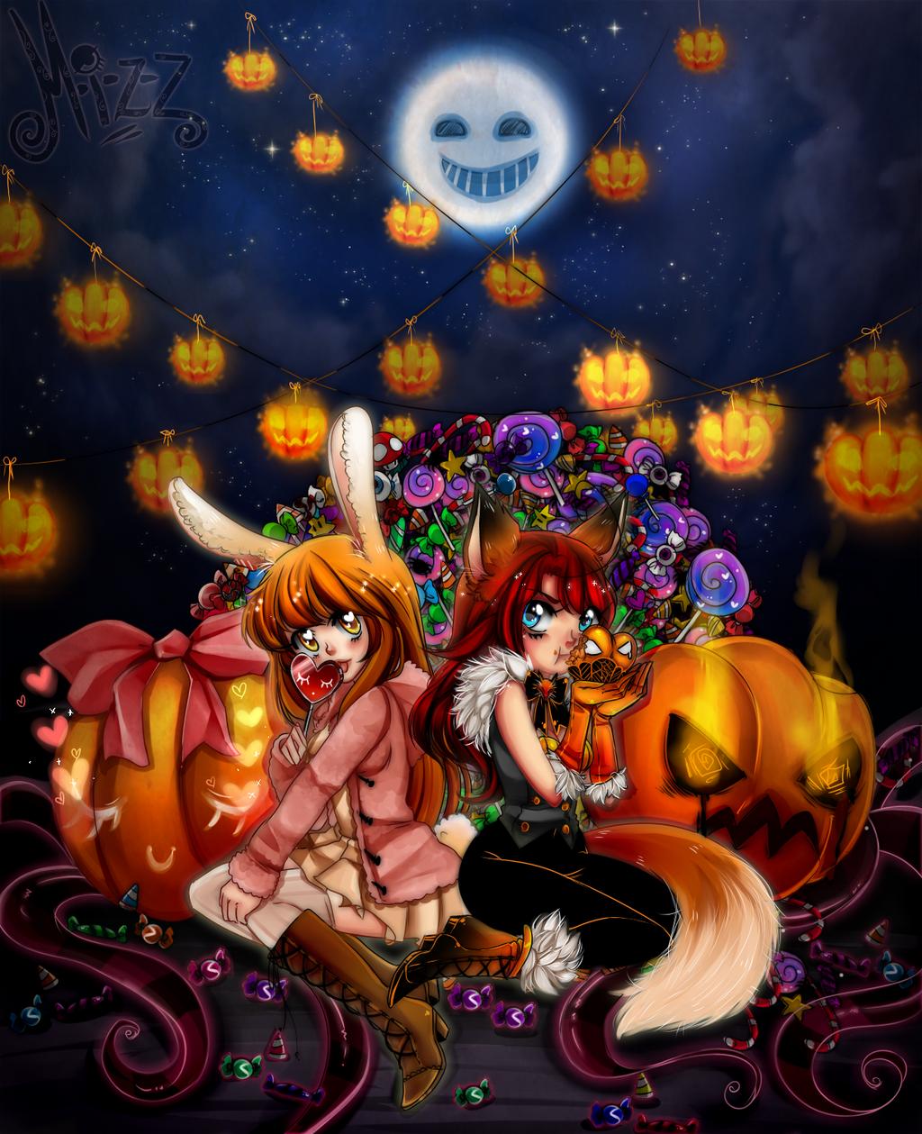 Foxy x Bunny by KuroiiFox
