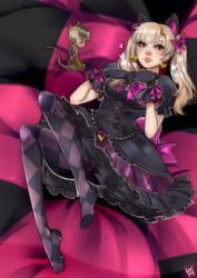 Black cat D.va and Junkratita