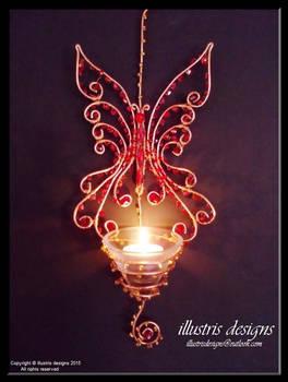 Large butterfly suncatcher/candlelight