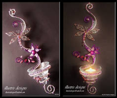 Unique candle holder / suncatcher by illustrisdesigns
