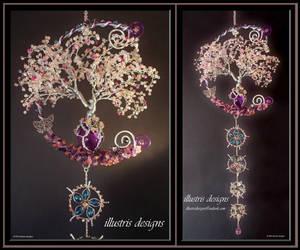 Cherry Blossom family wire tree