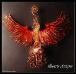 Rising Phoenix Candle Holder