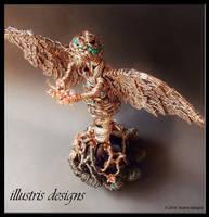 Angel sculpture by illustrisdesigns