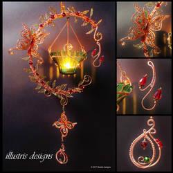Fantasy forest candle holder by illustrisdesigns