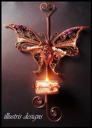Gemstone Butterfly candle holder by illustrisdesigns