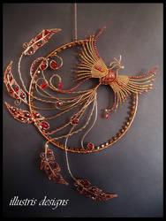 Phoenix suncatcher wallart