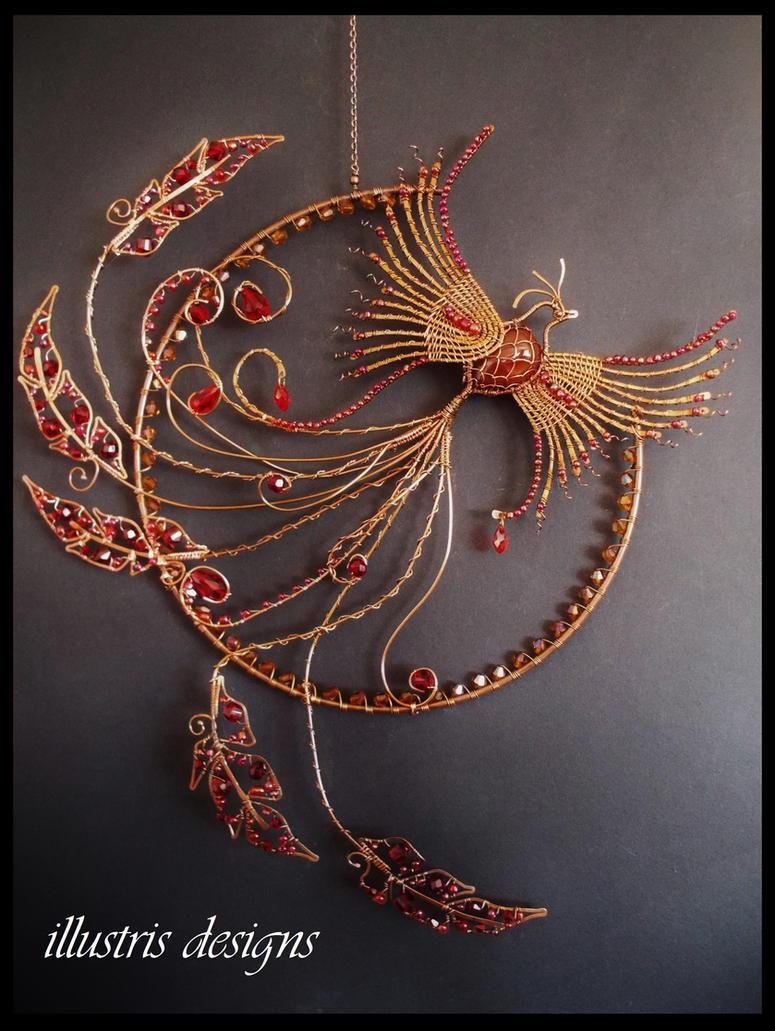 Phoenix suncatcher wallart by illustrisdesigns