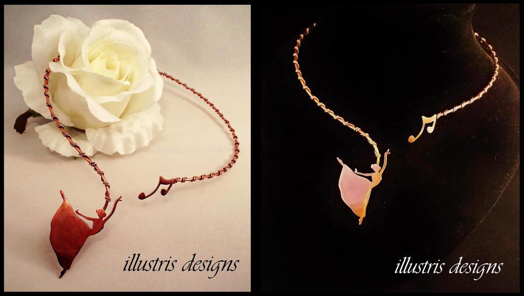 Dancing queen necklace by illustrisdesigns