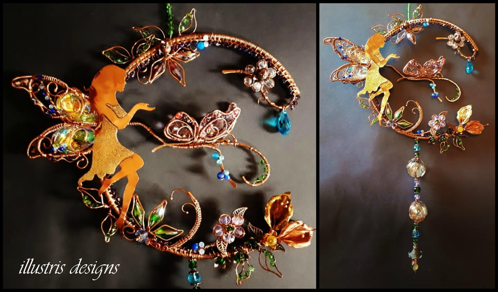 Fantasy Fairy suncatcher by illustrisdesigns