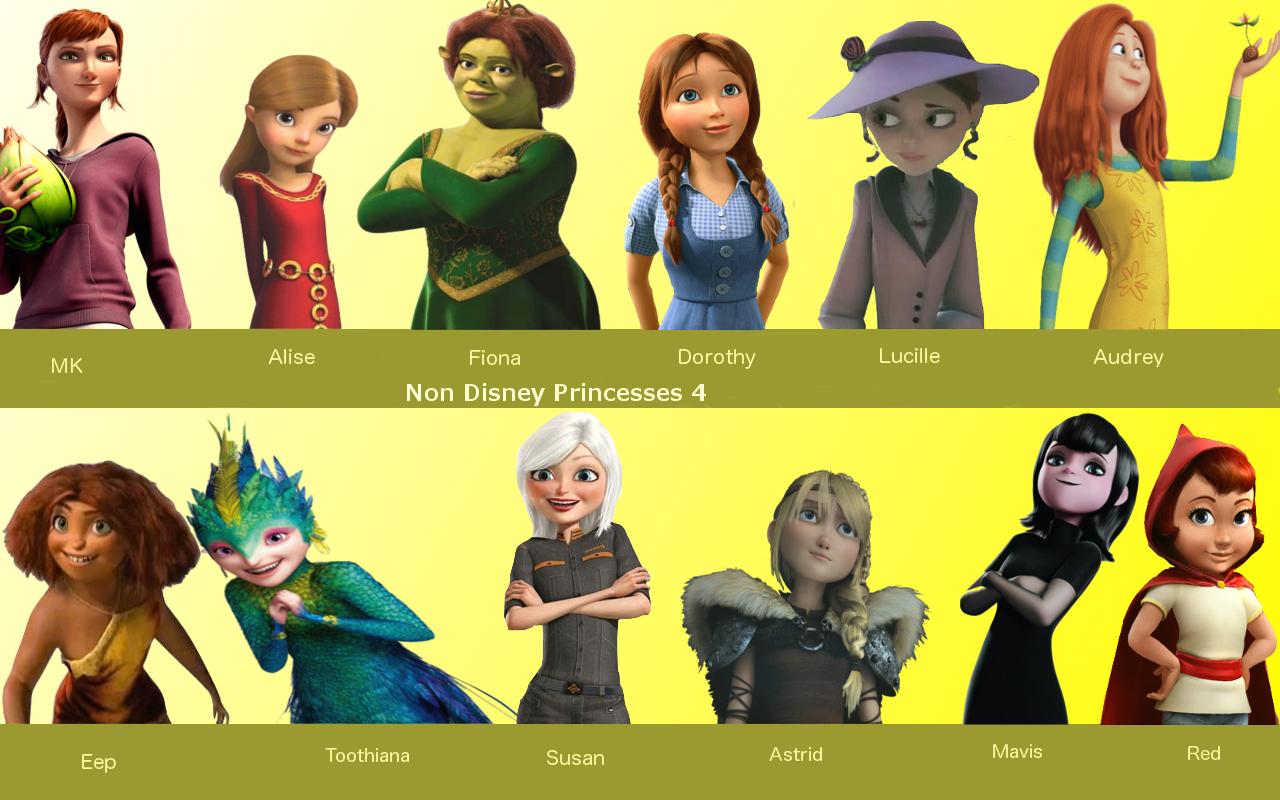 Non Disney Princesses 4 by JamiMunji on DeviantArt Disney Characters Female Names