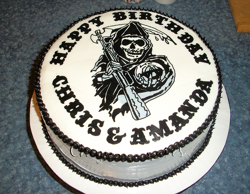 Sons of Anarchy cake by mystiic143