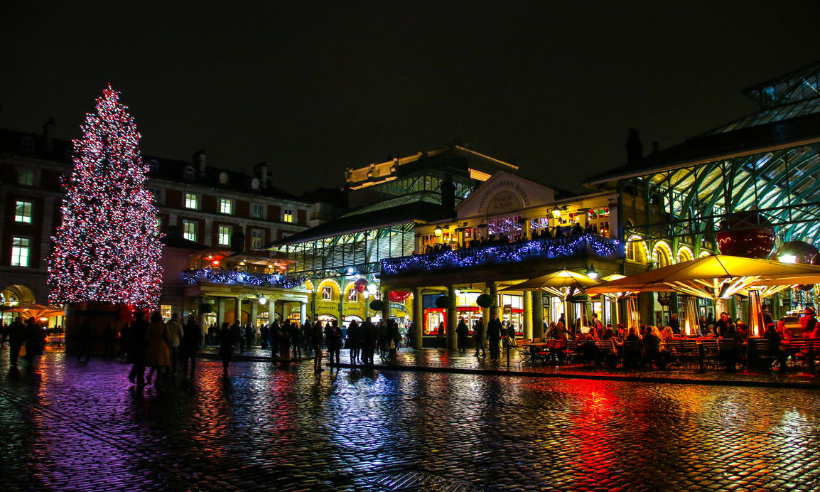 Covent Garden Christmas Lights At The Apple Market By DelNg ...
