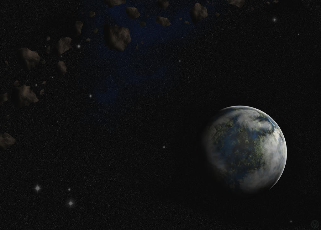 Earth-like exoplanet by No-one-o1 on DeviantArt