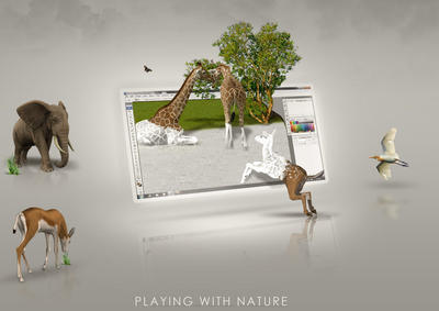Playing with nature by batchdenon