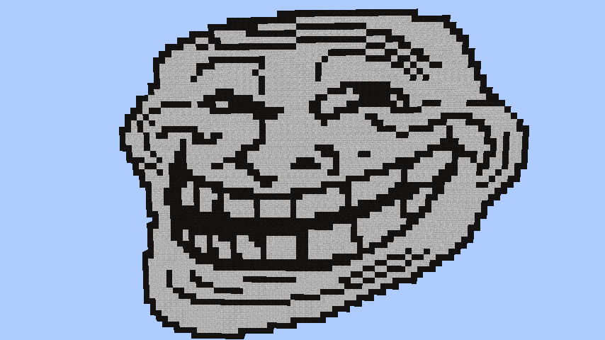 Minecraft Pixel Art Grid Troll Face Troll Face by KarmaKaz...