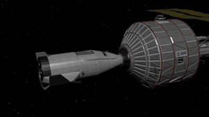 Hermes docked to Pegasus