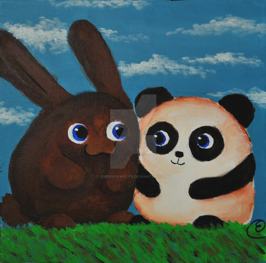 Panda and Bunny by EmersonWolfe