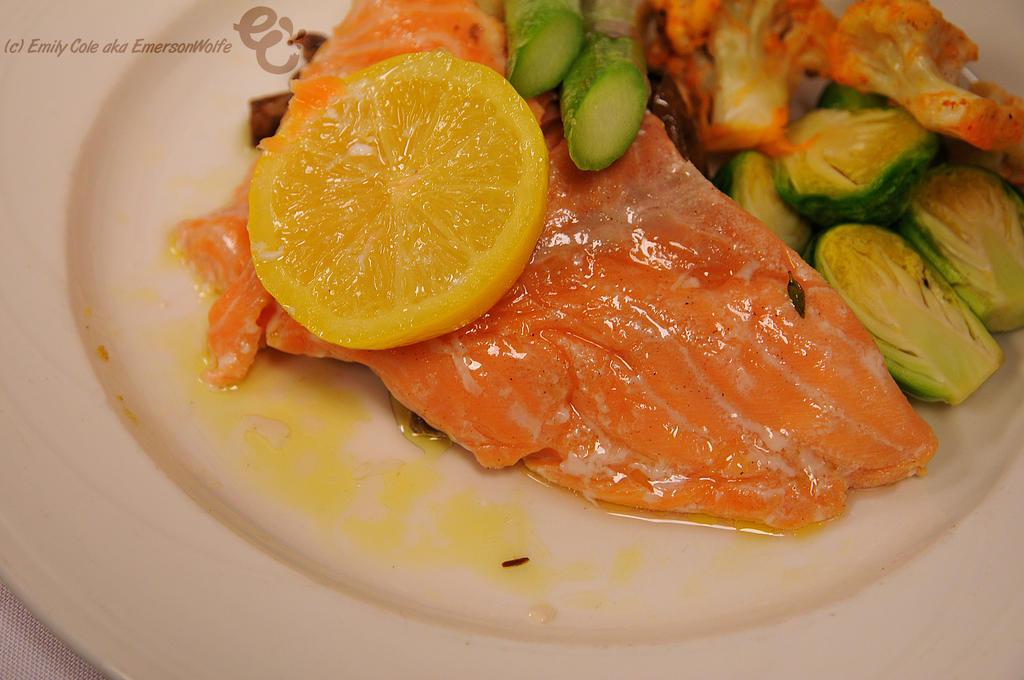 Salmon Dinner by EmersonWolfe