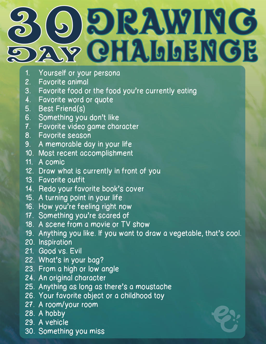 30 Day Drawing Challenge by EmersonWolfe