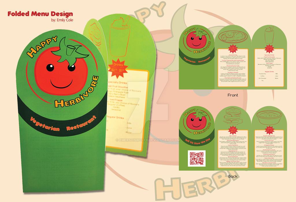 Happy Herbivore Menu by EmersonWolfe