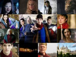 Merlin cast collage