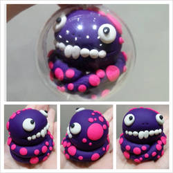Purple Monster Bauble