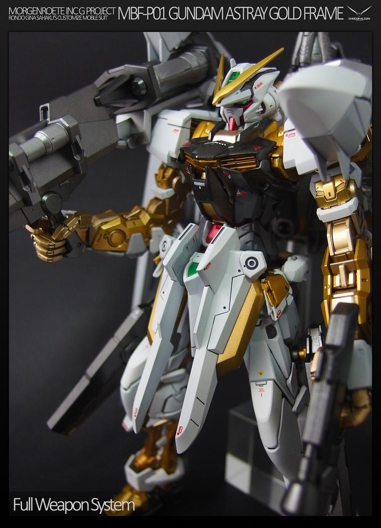 MBF-P01 GUNDAM ASTRAY GOLD FRAME by chocofalcon