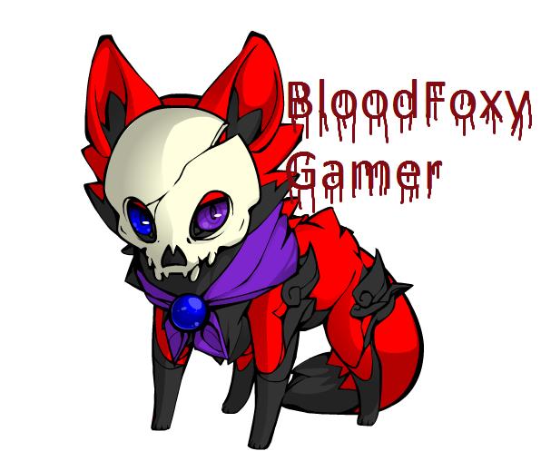 My symbol...BloodFoxy Gamer by zatr123456