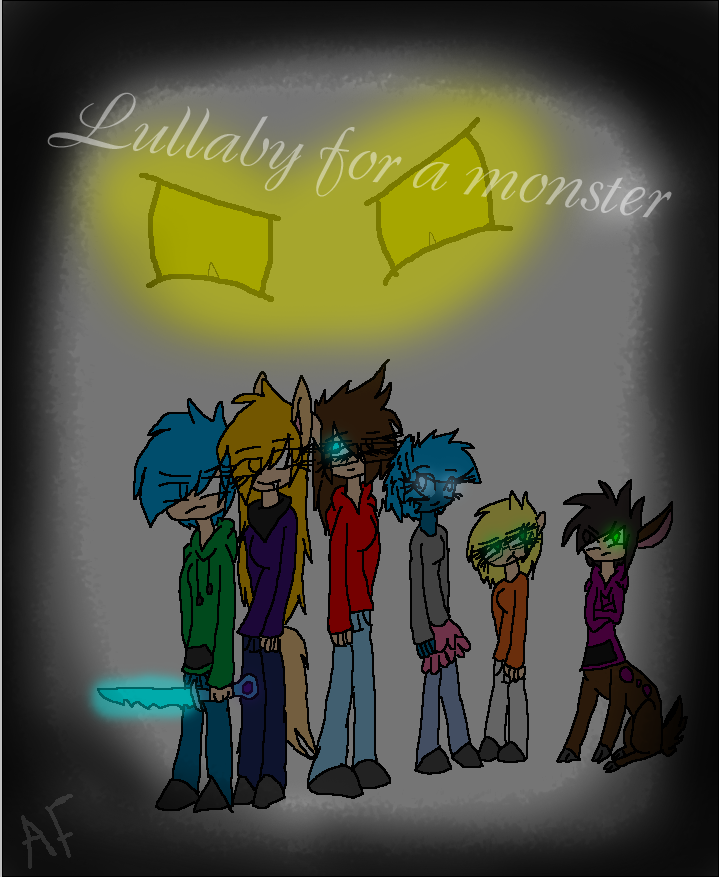 Lullaby for a monster comic cover(colored) by zatr123456