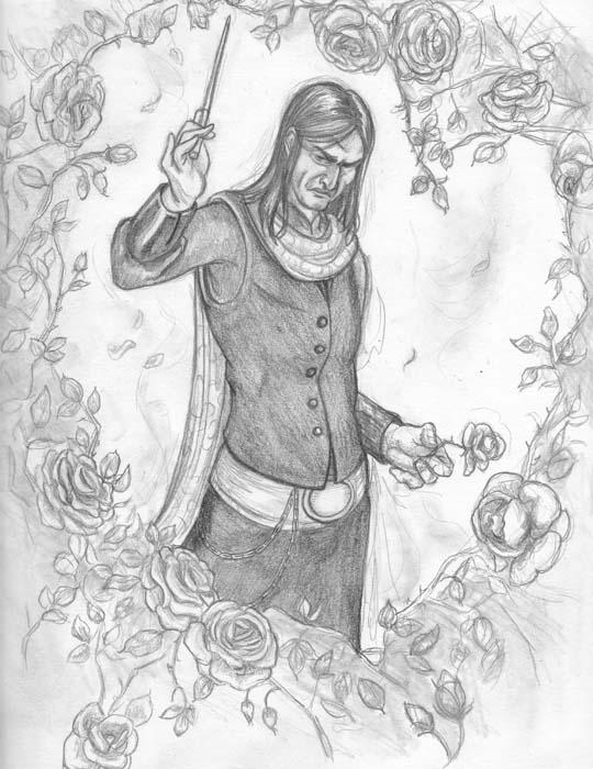 Yule Ball Snape: Rose Garden by NicoPony