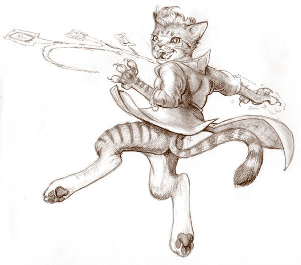 Gambit Anthro by NicoPony
